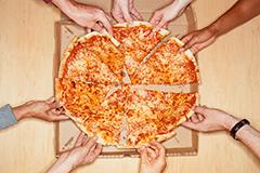 repartir pizza